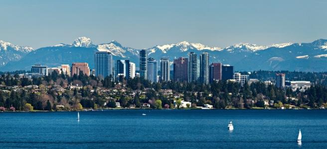 Bellevue Skyline and Lake Washington